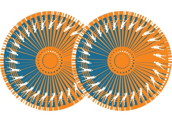 2x Zomo Slipmats Dance - orange_1