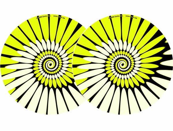 2x Zomo Slipmats - Paint - yellow_1
