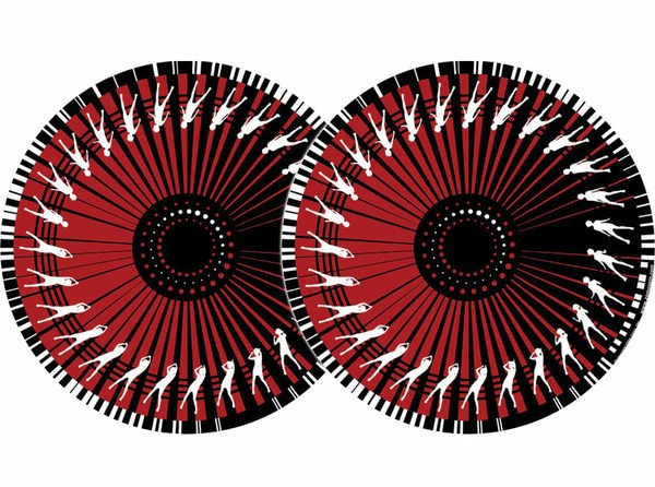2x Zomo Slipmats - Dance - red_1